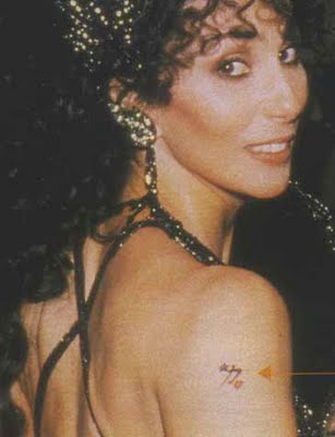 Cher's Chinese Tattoo