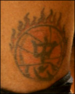 Larry Hughes' Chinese Tattoo