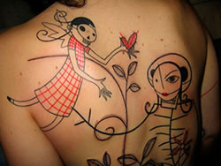 Abstract Line Tattoos