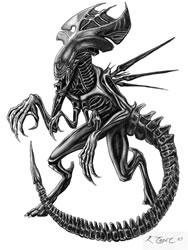 Alien Tattoo Design
