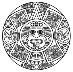 aztec sun tattoo