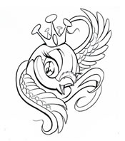 King Bird Tattoo Design