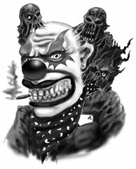 Gangster Clown Tattoo Deign