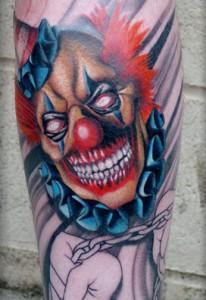 Top Arm Clown Tattoo