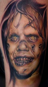 Scary Demon Face Tattoo Image
