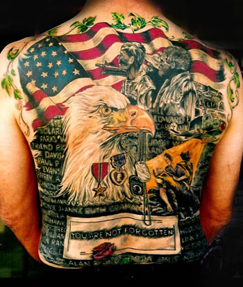 Amazing Eagle Back Piece