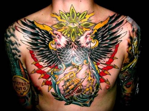 Beautiful Eagle Tattoo - Chest