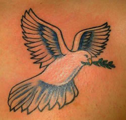 Back Dove Tattoo
