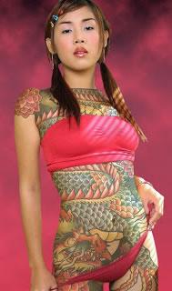 Full Body Dragon Tattoo Design