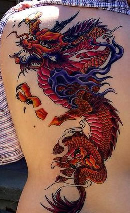 Girl With A Red Dragon Tattoo