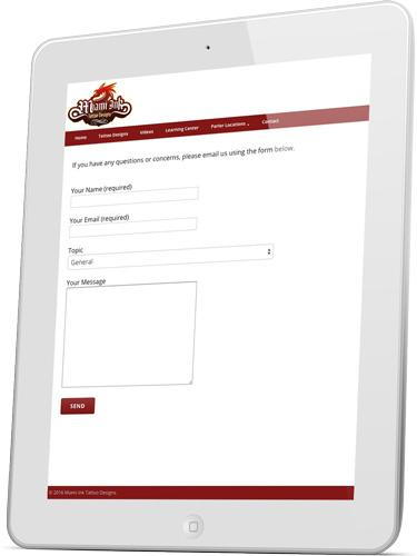 Miami Ink Easy Contact Page