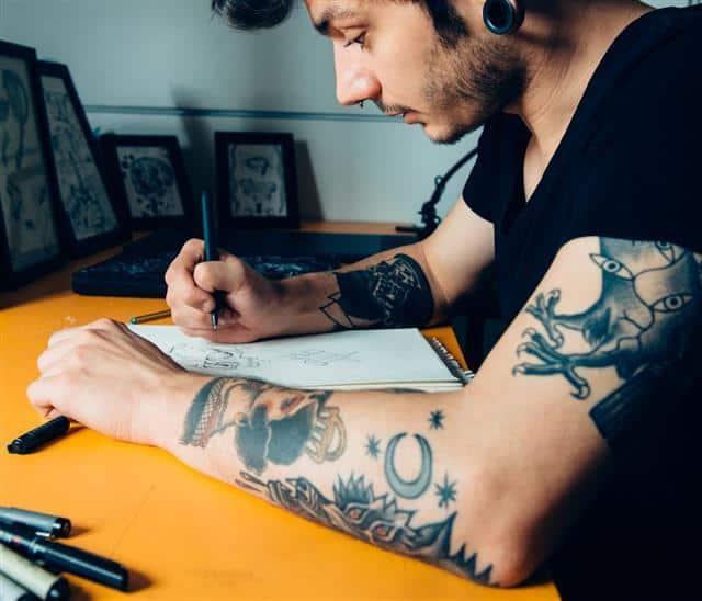 Tattoo Artist Drawing Design